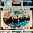 Menomonee Falls Centennial quiilt from the Maude Shunk Local History room