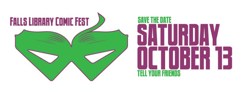 Falls Library Comic Fest logo