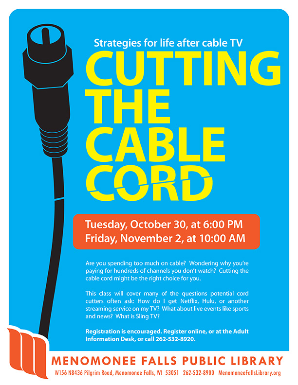 Cutting the Cable Cord flyer